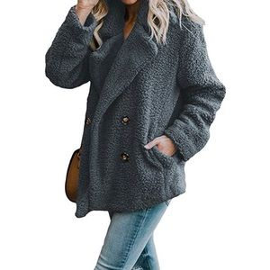 ✨Gray Colored Cozy Fleece Coat✨